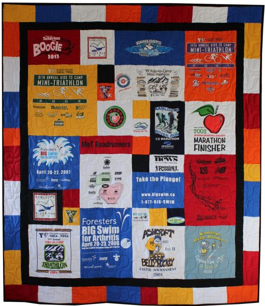 Tom's T-shirt Quilt 48 x 56 with Borders