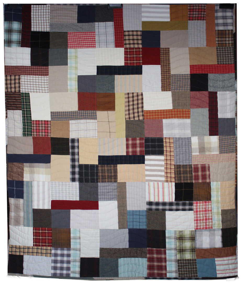 Assorted Clothing & Fabric Quilt (1)