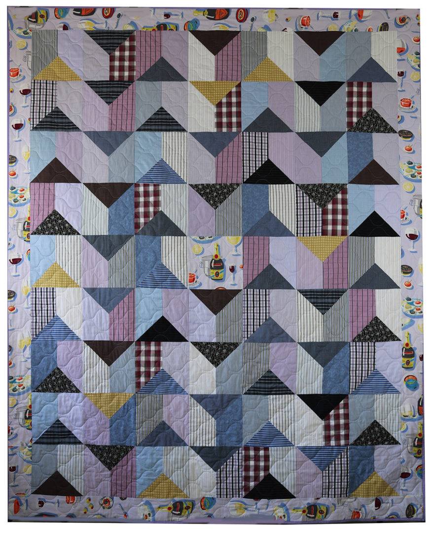 Assorted Clothing & Fabric Quilt (2)