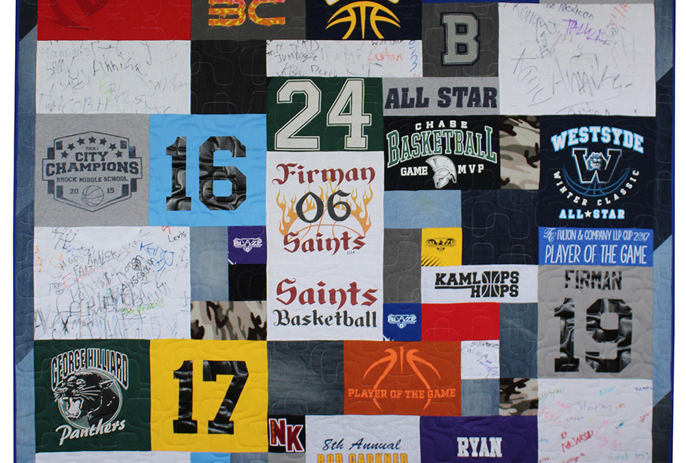 How many T-shirts does it take to make a memory quilt?